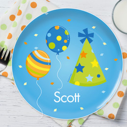 Boy Bday Cheers Personalized Dishes