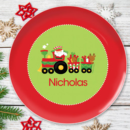 My Cute Xmas Train Kids Plate