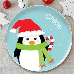Hello from Mr. Penguin Kids Plate