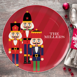 The Traditional Nutcracker Personalized Christmas plates