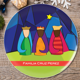 Modern Three Kings Personalized Christmas plates