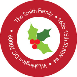 My Backyard Snowman Christmas Address Labels