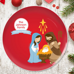 The Nativity Tradition Personalized Christmas plate