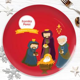 La Tradicion de los Reyes Magos Personalized Christmas plate