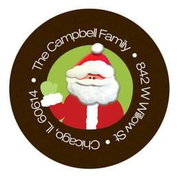 Santa's Swirls Christmas Address Labels