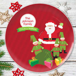 Santa's Tradition Personalized Christmas plate