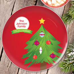 The Christmas Tree Tradition Personalized Christmas plate