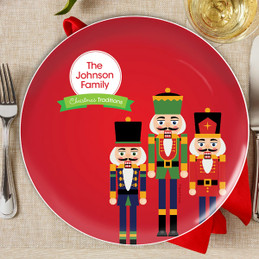 The Nutcracker Tradition Personalized Christmas plate