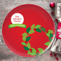 A Modern Wreath Christmas Plate