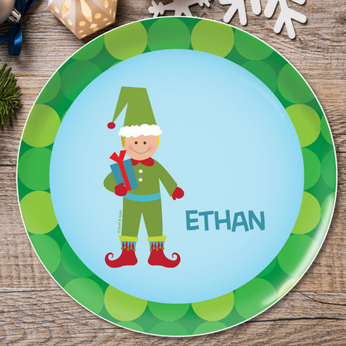 Cute Elf Boy Kids Plate