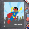 cool african american superhero personalized notebook for kids