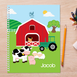 A Day in the Farm Kids Notebook