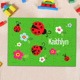 Curious Lady Bug Personalized Name Puzzle By Spark & Spark