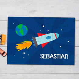 Rocket launch personalized kids puzzles