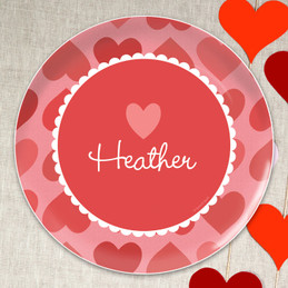 Lovely Hearts Kids Plates
