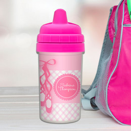 My Ballerina Shoes Personalized Sippy Cups