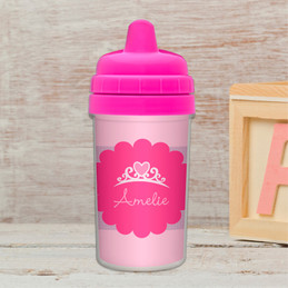 I am a pretty princess sippy cup for kids