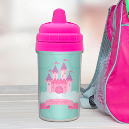 A castle in the sky toddler sippy cup