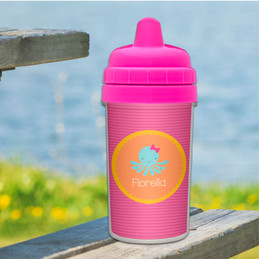 Cute octopus personalized sippy cups