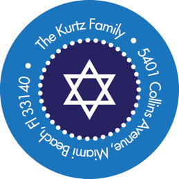 Hanukkah Stripes Address Label