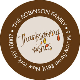 Thanksgiving Wishes Holiday Labels