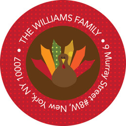 Bold Turkey Personalized Holiday Labels