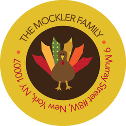 Turkeys And Turkeys Family Address Labels