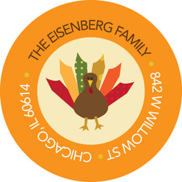 Thanksgiving From Us Holiday Labels