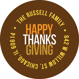 Thanksgiving Message Holiday Labels