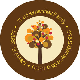 Turkey And Trees Family Address Labels