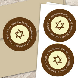 Shofar and dove label