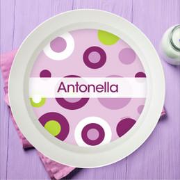 Circles and Circles Purple Kids Bowl