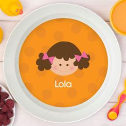 Just Like Me Girl Orange Kids Bowl