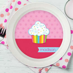 Rainbow Cupcake Kids Bowl