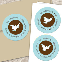 Dove of peace label