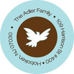 Dove of peace label