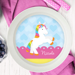 Cute Rainbow Pony Kids Bowl