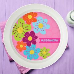 Shiny Bold Flowers Kids Bowl