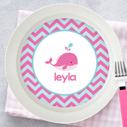 Sweet Pink Whale Kids Bowl