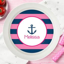 Let's Sail Pink Kids Bowl