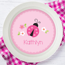 Sweet Pink Lady Bug Kids Bowl