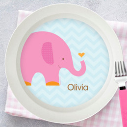 Sweet Pink Elephant Kids Bowl