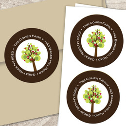 Cute apple tree label