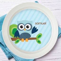 Owl Be Yours Blue Kids Bowl