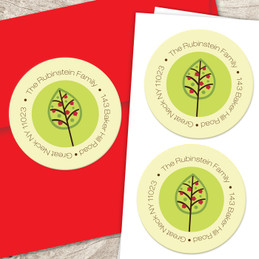 Pomegranate branches label