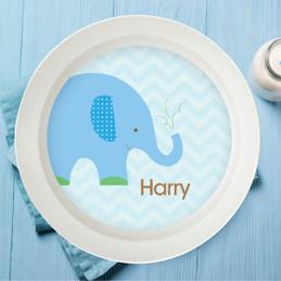 Blue Baby Elephant Kids Bowl