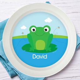 Cute Smiley Frog Kids Bowl