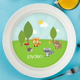 Cute Animals in the Forest Kids Bowl