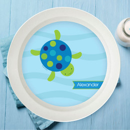 Swimming Blue Turtle Kids Bowl