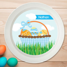 A Cute Blue Easter Basket Kids Bowl
